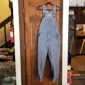 Vintage Dickies striped overalls